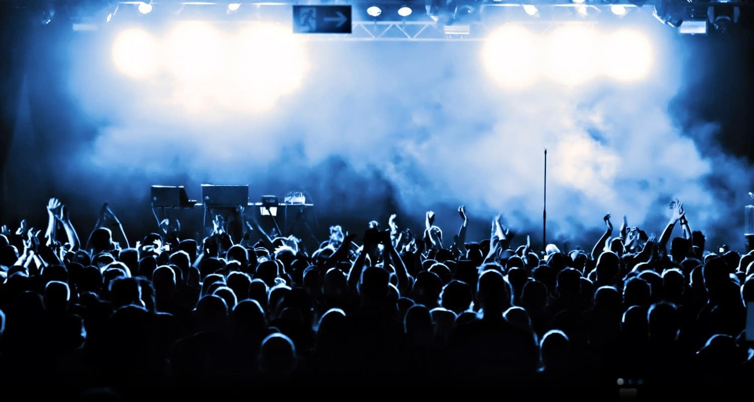 concert smoke stage audience applause the darkness the crowd resized